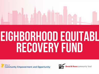 Apply Now for Round 2 of the Neighborhood Equitable Recovery Fund (10/1)