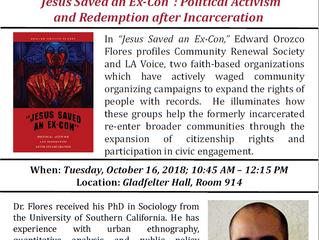 Temple Criminal Justice Department Hosts Edward Orozco Flores!