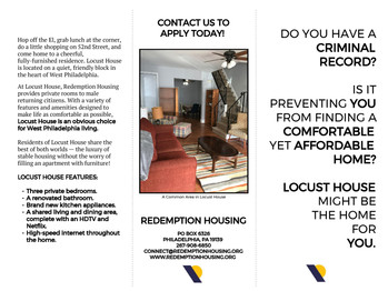 Redemption Housing Looking to Fill Vacancies in Transitional Housing Program for Returning Citizens