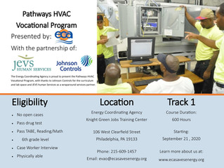 Energy Coordinating Agency Seeking Applicants for Free Reentry HVAC Training Program