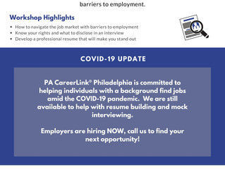 PA CareerLink Philadelphia Offering Workshops and Services During COVID-19