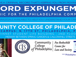 Criminal Record Expungement for the Community
