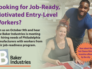 Hear From Baker Industries About the Philadelphia Fair Chance Hiring Incentive