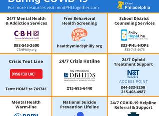 City of Philadelphia Releases COVID-19 Mental Health Resource List