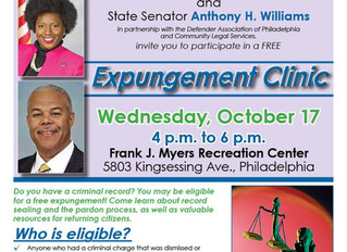 CLS and the Defender Association Partner with State Reps to Host a Free Expungement Clinic!