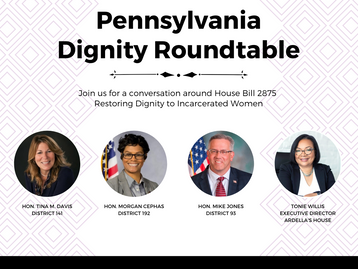 Ardella's House Hosting Virtual Roundtable on Restoring Dignity to Incarcerated Women - Dec. 2nd