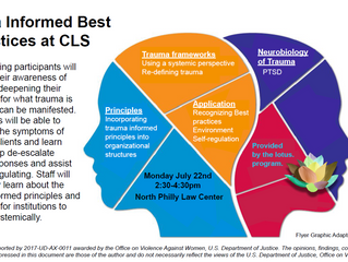 Trauma Informed Best Practices at CLS - July 22nd