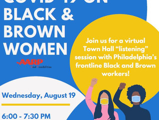 "Join the City of Philadelphia for ""The Impact of COVID-19 on Black & Brown Women"" Town"