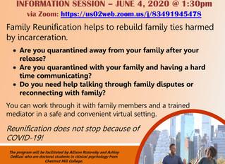 Virtual Info Session: Family Reunification Program – June 4