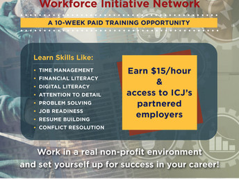 Institute for Community Justice Recruiting for Paid Workforce Training Program