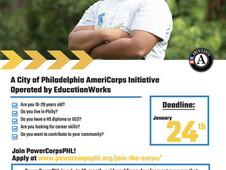 PowerCorpsPHL Seeks Applicants for Paid Workforce Development Program