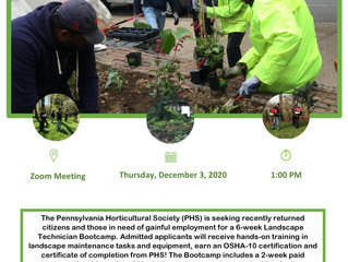 PHS Hosting Info Session for Roots to Reentry Program - Dec 3rd
