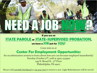 Center For Employment Opportunities Information Session