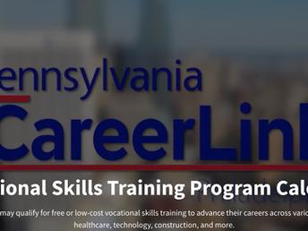PA CareerLink Releases Vocational Skills Training Program Calendar