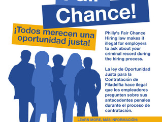 PCHR Launches a Fair Chance Hiring awareness campaign!