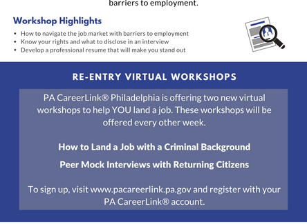 CareerLink Shares Updated Flier Listing Resources for Returning Citizens