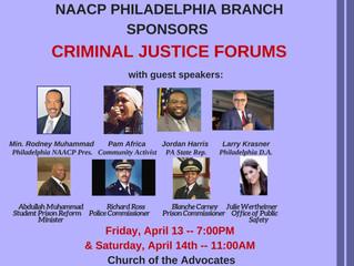 NAACP Philadelphia Branch Sponsors Criminal Justice Forum