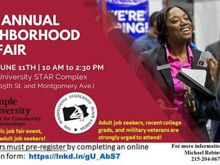 14th Annual Neighborhood Job Fair - June 11th
