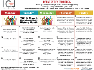 Institute for Community Justice - March Reentry Center Hours