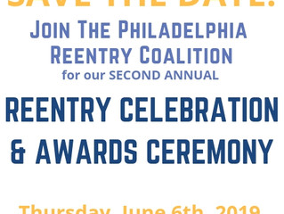 🎉Save the Date for the 2019 Reentry Month Celebration and Awards Ceremony🎉