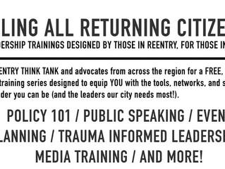 Reentry Think Tank Presents: Trauma Informed Leadership Training