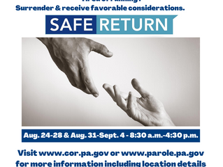 PA Offering 'Safe Return' to Some Parolees Who Have Violated Supervision Rules