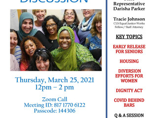 Sisters Returning Home Hosting Reentry for Women Panel Discussion - March 25th