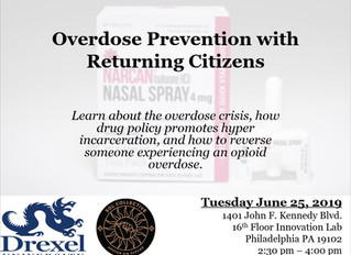 Reentry Coalition June Training Event: Overdose Prevention with Returning Citizens