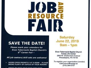 Enon Tabernacle Job and Resource Fair June 22nd!