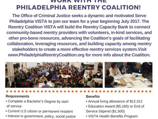 Work with the Philadelphia Reentry Coalition!