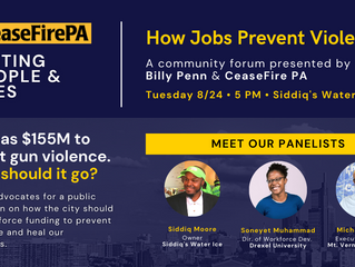 Community Forum: How Jobs Prevent Violence – Aug 24