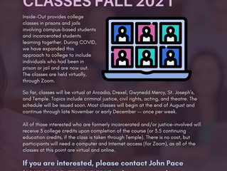 Join Inside Out for College Classes Fall 2021