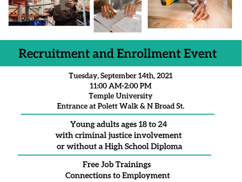 Philadelphia OIC Recruitment and Enrollment Event (9/14)