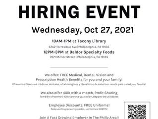 Baldor Specialty Foods is Having a Hiring Event (10/27)