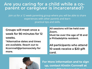 Pennsylvania Prison Society Facilitating Free 12 Week Parent/ Caregiver Program