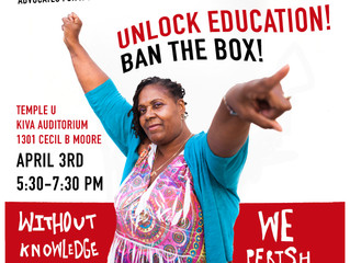Special Event at Temple University: Help Ban the Box on Education
