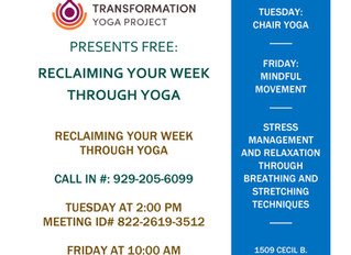 Transformation Yoga Project and JEVS Human Services Hosting Free 8 Week, Trauma Sensitive Yoga Clini