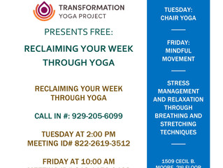 Transformation Yoga Project and JEVS Human Services Hosting Free 8 Week, Trauma Sensitive Yoga Clini
