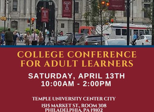 Graduate Philadelphia and Temple are hosting a College Conference for Adult Learners!