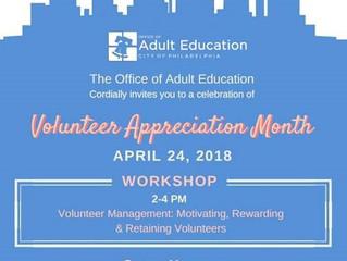 OAE to host training on Volunteer Management in honor of Volunteer Appreciation Month