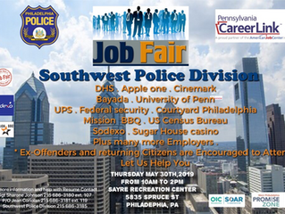 Southwest Philadelphia Job Fair - May 30th