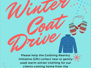 The Goldring Reentry Initiative (GRI) Winter Clothes Drive for Returning Philadelphians!
