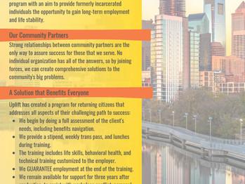Uplift Solutions Seeking Community Partners on Workforce Projects