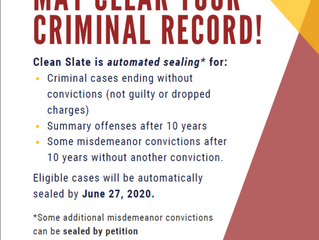 Clean Slate May Seal Your Criminal Record!