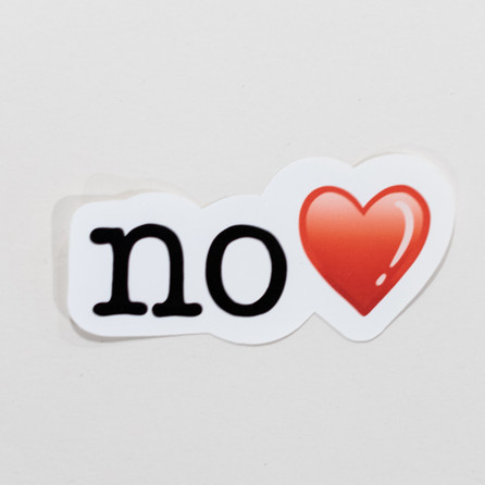 No With Heart Sticker