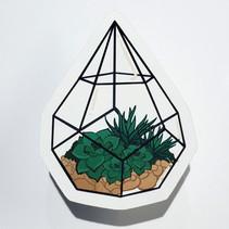 Dew Drop Terrarium Sticker