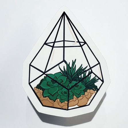 Dew Drop Terrarium Sticker