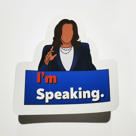I'm Speaking Sticker