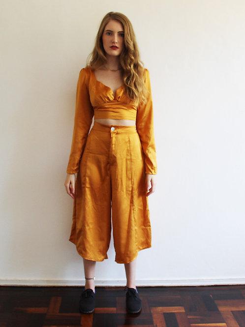 Calça Midi Amarelo Sol