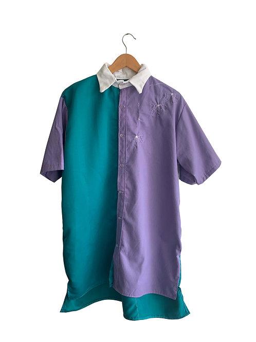 Camisa Violeta e Turqueza Collab Dani Stuani